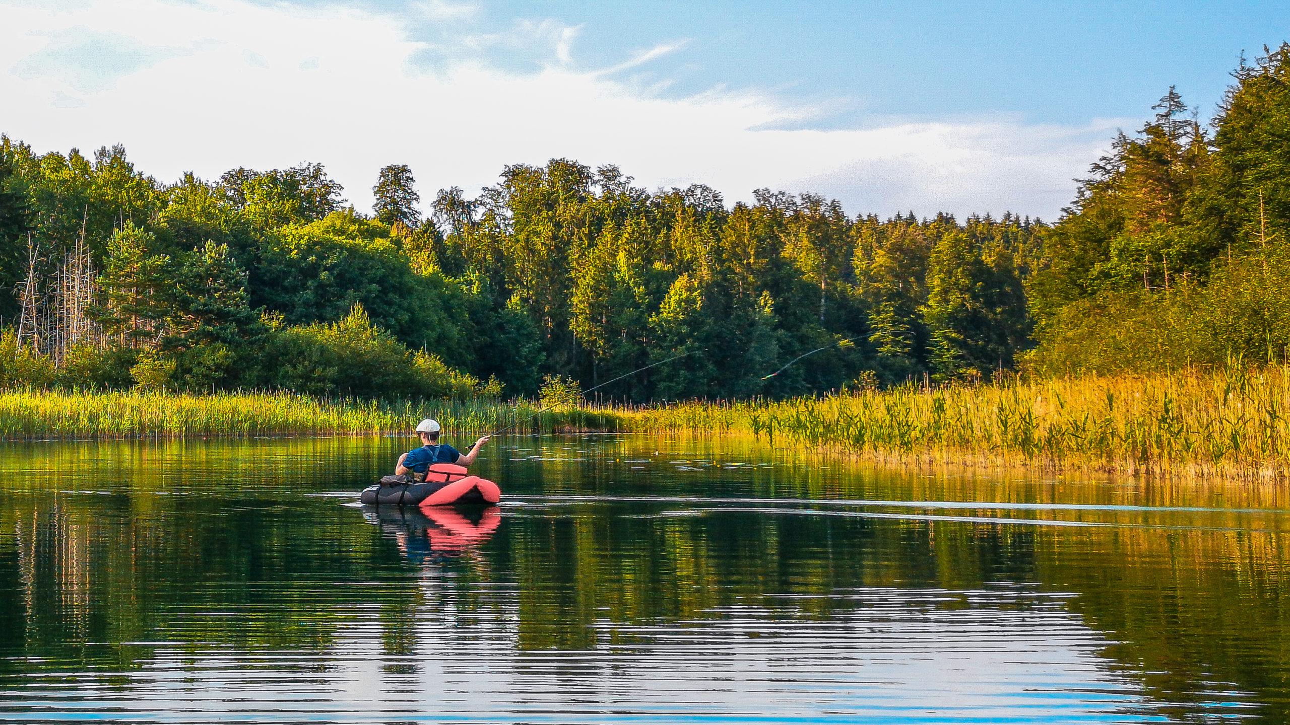 Belly-Boat Kurs - Fliegenfischen auf Hecht